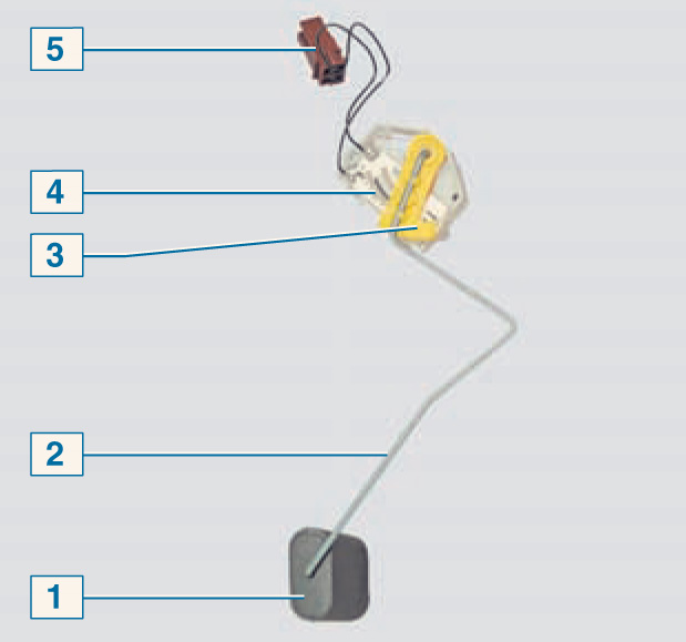 Схема подключения датчика топлива рено