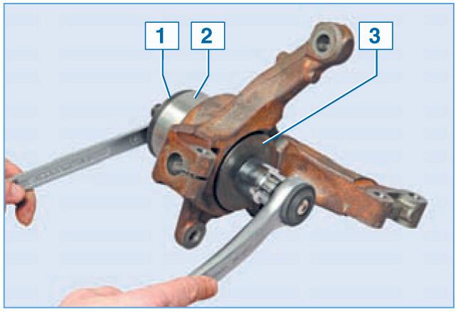 Замена подшипника передней ступицы рено логан своими руками видео