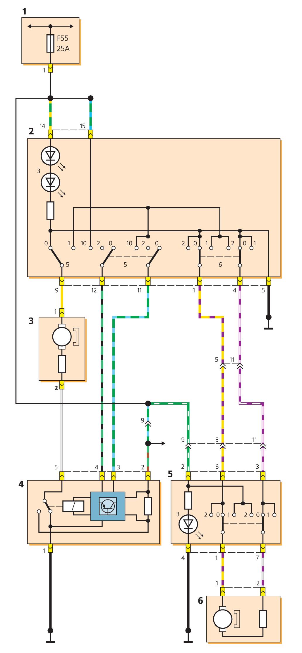 Мондео схема стеклоподъемника