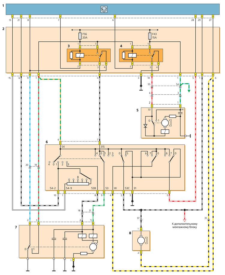 Схема включения очистителей