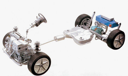Шасси гибридного автомобиля