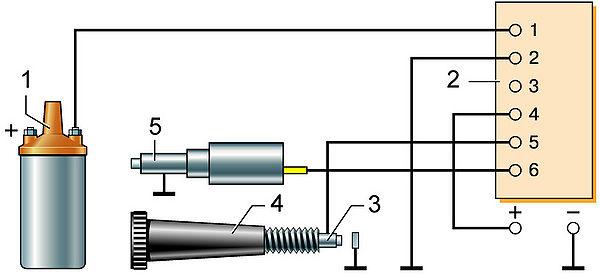 5 – электромагнитный клапан.