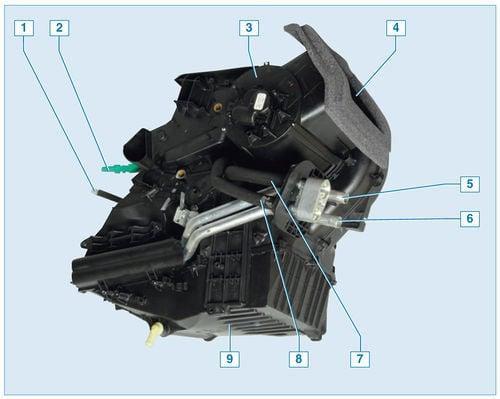 Форд фокус 2 схема печки