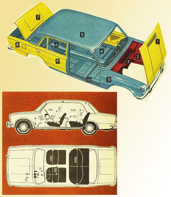 Основные панели кузова
