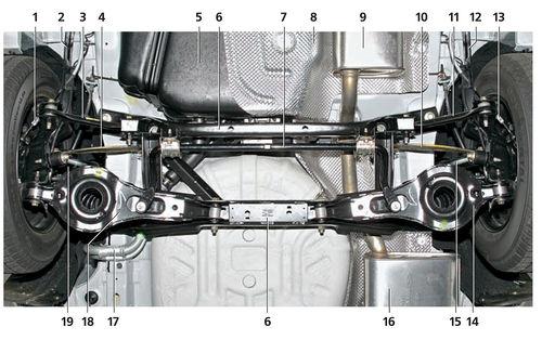 Схема подвески фокус 3