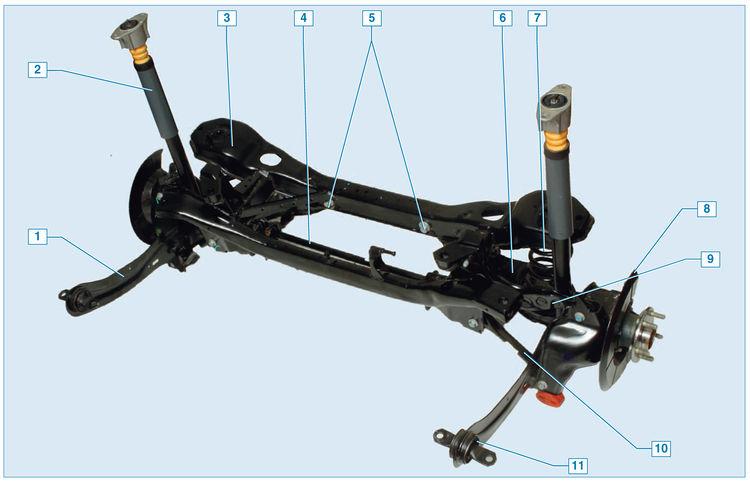 Задняя подвеска форд фокус 3 схема