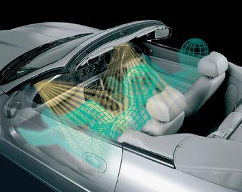 Подушка безопасности для водителя размещается в ступице рулевого колеса, а подушка безопасности для переднего...