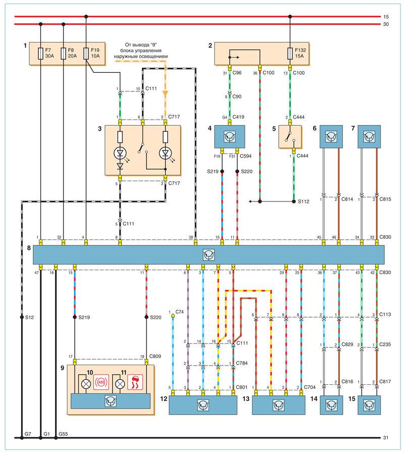 Схема эбу форд фокуса
