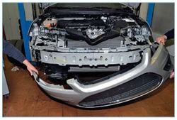 Как снять передний бампер форд фокус 2