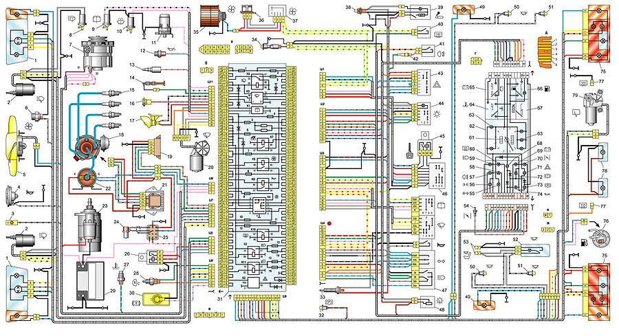 Схема электропроводки ваз 21099 инжектор 8 клапанов
