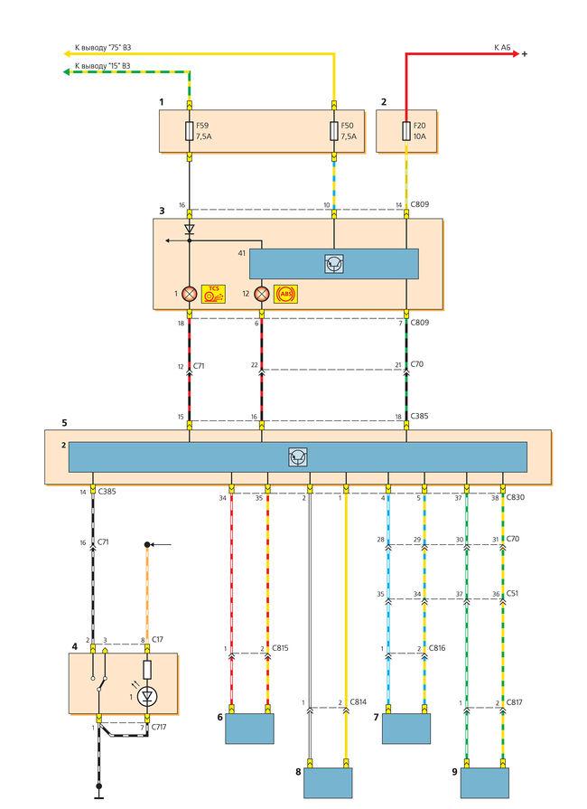 датчик скорости камаз схема
