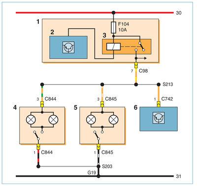 Схема включения подсветки