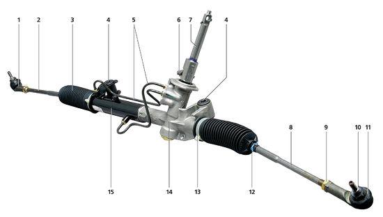 1 — наконечник рулевой тяги;