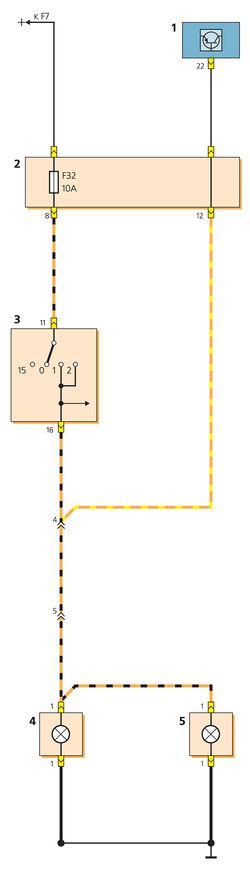 Схема включения фонарей