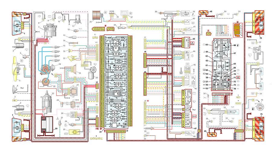 Электрическая схема омывателя