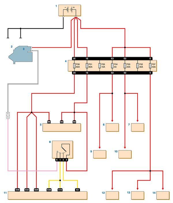 рено логан схема электрическая