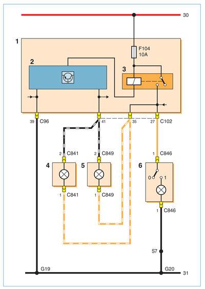Схема включения плафонов