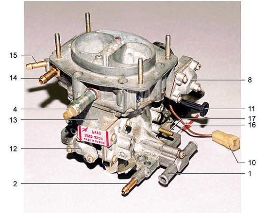 550px RemSP2108 0802 - Схема жиклеров карбюратора солекс 21083