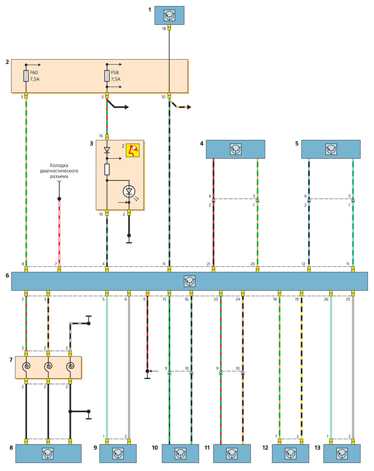 Схема включения блока