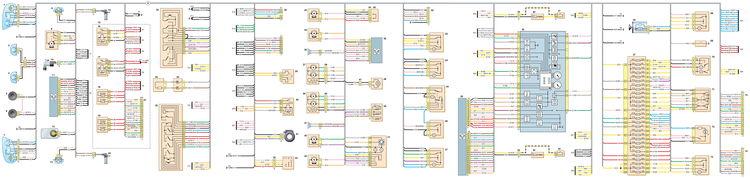 Схема соединений переднего